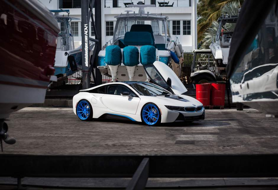 Adv1 Bmw I8 Adv10r Rotational Directional Forged Polished Blue