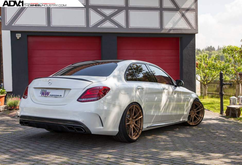 Adv1 Mercedes Amg C63s Coilover Lowered Wheels