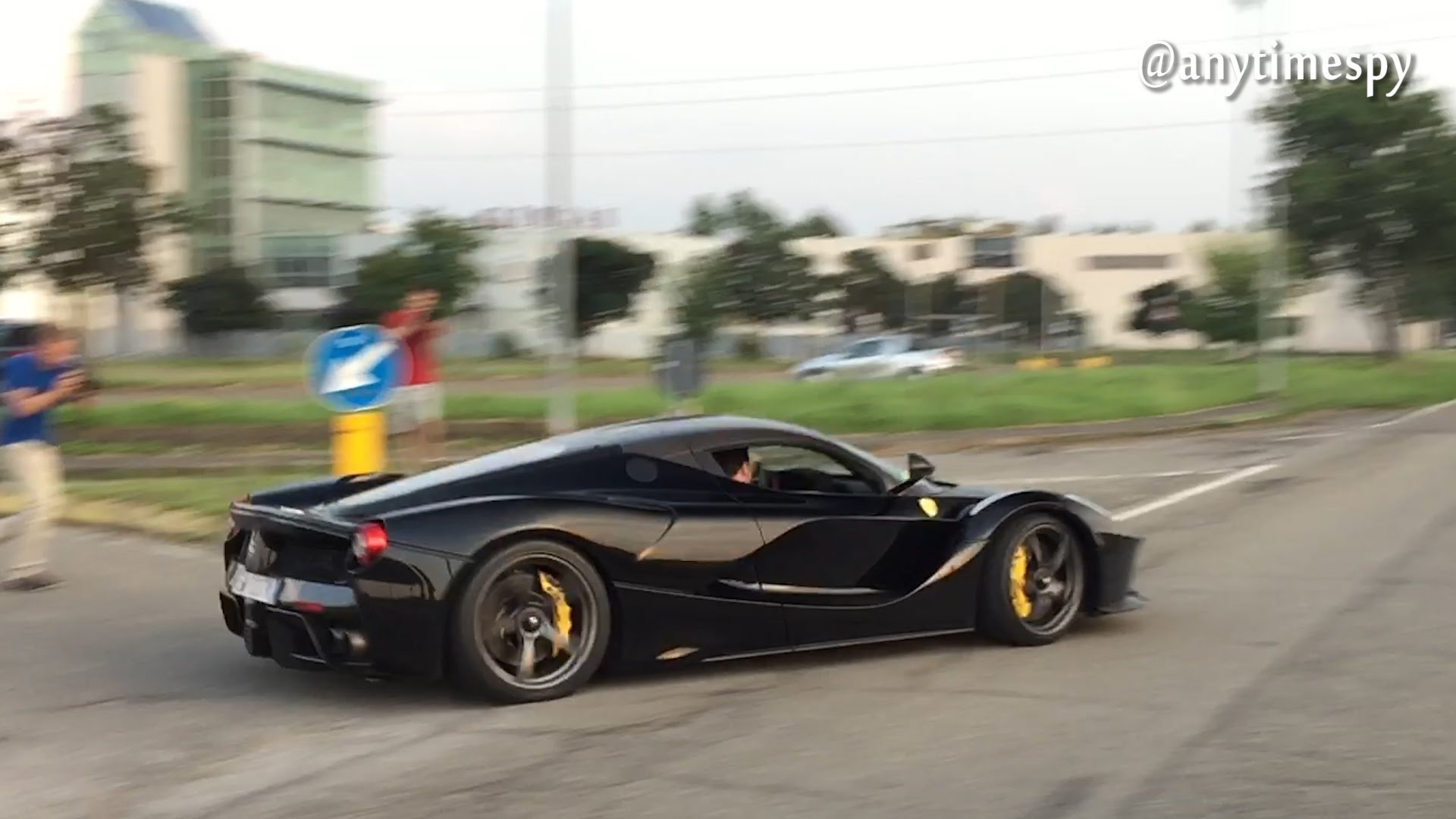 Drifting LaFerrari Near Accident With a Citroen