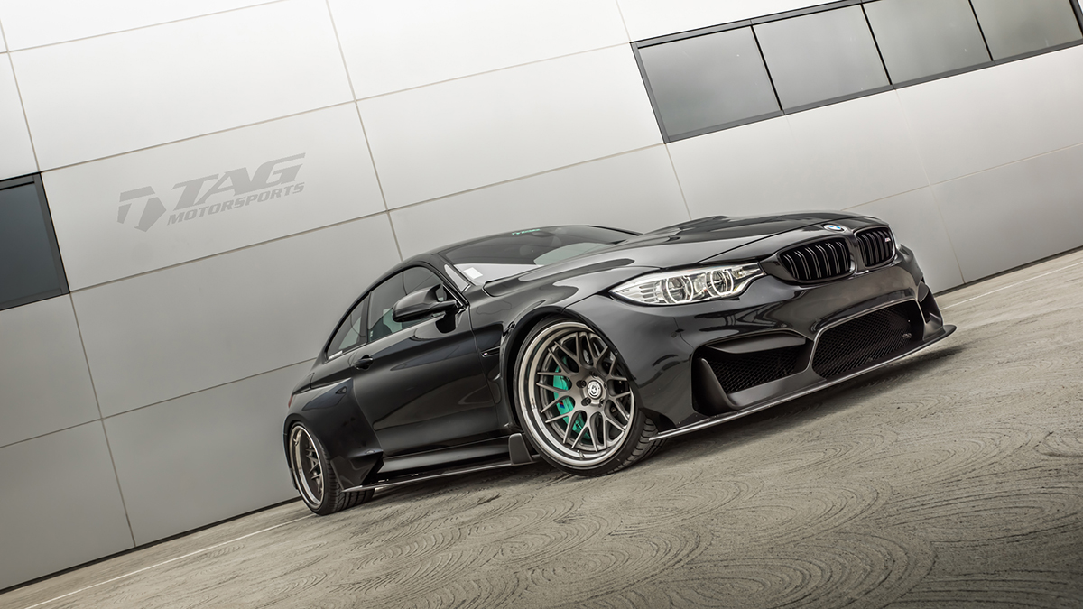 MPPSOCIETY tagmotorsports BMW M4 Vorsteiner Widebody HRE Wheels 14